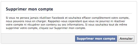 Spprimer facebook 1