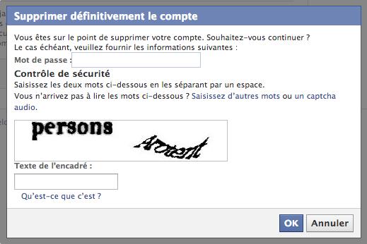 supprimer facebook 2
