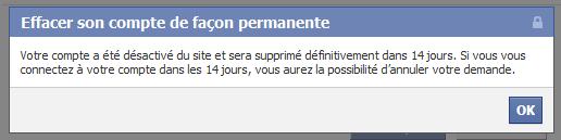 supprimer facebook 3